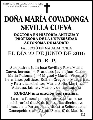 María Covadonga Sevilla Cueva
